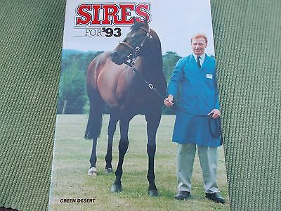 Sires For 1993 - The Stallion Directory