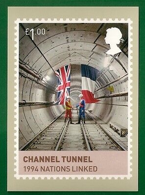 2012  **   Royal Mail Phq Postcard   **   The Channel Tunnel  **  Mint