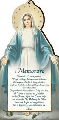 Our Lady Virgin Mary Wooden Plaque - Catholic Candles Statues Pictures Listed