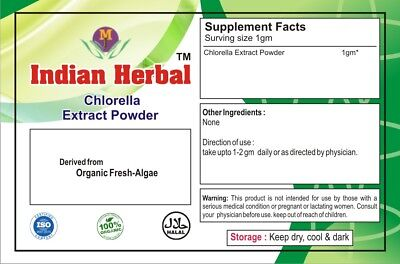Organic Chlorella Extract Powder Protein Vitamins Cholrophyll