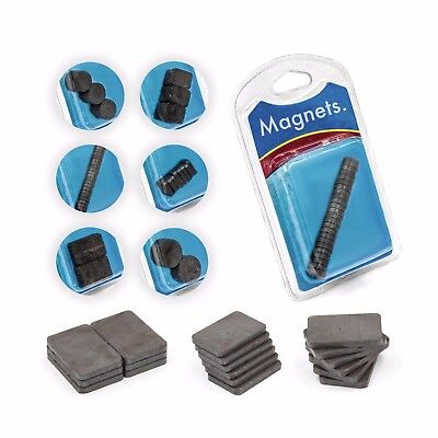 Raw Black Magnets - 6 Different Shapes - Round & Square, Large & Small!
