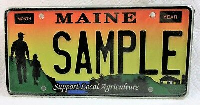 Maine, Support Local Agriculture, Sample License Plate - Mint, Original Wrap