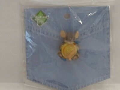 Charming Tails Mouse With Gum Mouse Lapel Pin-NEW