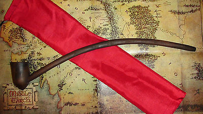 """18"""" Sir William W.  Pipe And Pouch & Lord Of The Rings Card Hobbit Gandalf G&p"""
