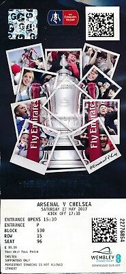 TICKET: FA CUP FINAL 2017 Chelsea v Arsenal