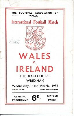 Wales v Northern Ireland (Home International @ Wrexham) 1954