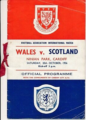 Wales v Scotland 1956 - VIP edition with Ribbon