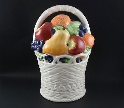 BASKET OF FRUIT Collectible Cookie Jar by International Art
