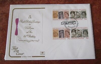 GB 60th Birthday of The Queen 1986 FDC