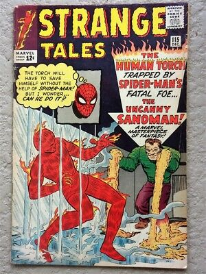Strange Tales #115 Marvel Comic Book 1963 Fine- Spiderman Sandman