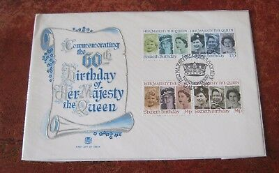 GB Commemorating the 60th  Birthday of   H.M.  The Queen 1986 FDC