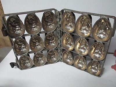 Magnificent Old Easter Egg Candy Mold - Duck & Chick - 9 Egg Size