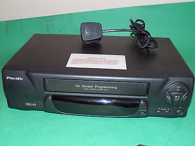 PACIFIC PV203BLK Video Cassette Recorder VHS VCR Fast to Send Fully Tested