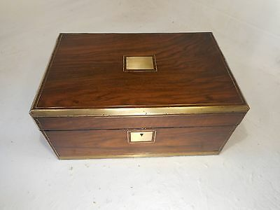 Antique Walnut   Writing Slope  Box , Brass inlaid      ref 3047