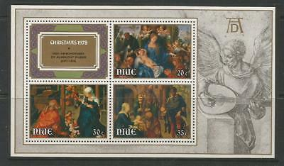 Niue 1978  Christmas Paintings By Durer.  Mnh. Art