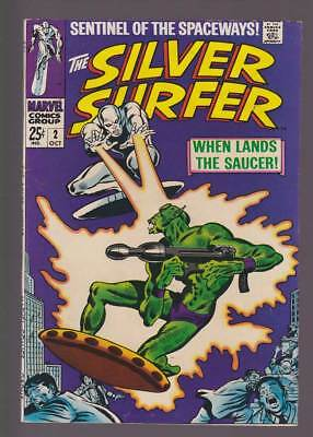 Silver Surfer # 2  When Lands the Saucer !   grade 7.0 scarce book !