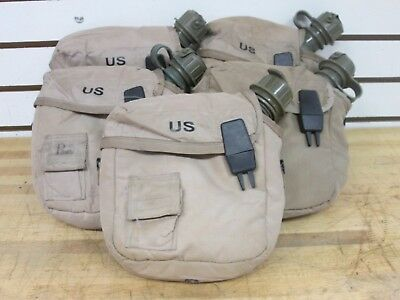 (5) Us Military 2 Quart Green Canteens, 5 Tan Canteen Covers ~ Used ~
