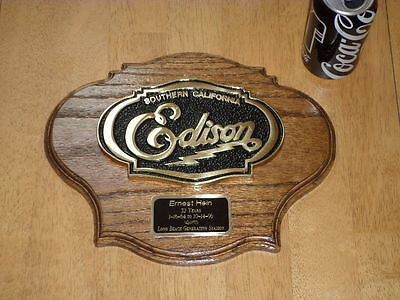 Southern California Edison, Employee Service Award Plaque Sign