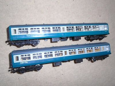 Pair of Inter-City Coaches for Hornby OO Gauge Train Sets