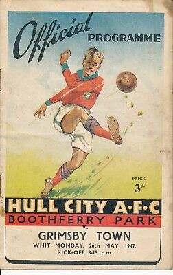 Hull City v Grimsby (East Riding County Trophy) 1947