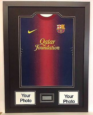Frame For Football Rugby Any Shirt+Engraved Plaque With Wording Of Your Choice