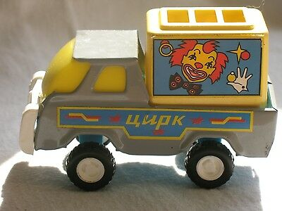 RUSSIAN Soviet CAR Kid New Plastic Metal Boy TOY Automobile Clown Cirque Circus