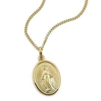 Jewelry Set 333 Gold Pendant Madonna Maria Immaculate Milagrosa (11130/42+94820)