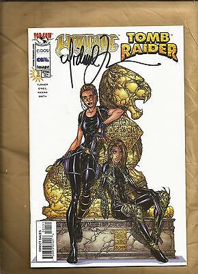 Witchblade Tomb Raider 1 vfn/nm 1998 Lion cover signed Turner Image Comics
