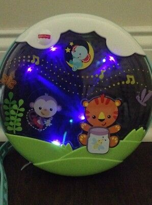 Fisher Price Crib Soother, Nature, Music Lights Sounds Lullaby Bear Monkey Baby