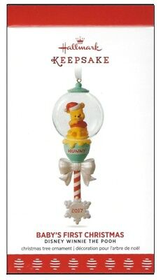 2017 Hallmark Winnie the Pooh Collection Baby's First Christmas Ornament