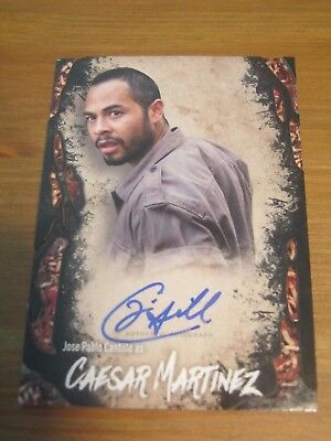 2016 The Walking Dead Survival Box Autograph Jose Pablo Castillo Caesar Martinez