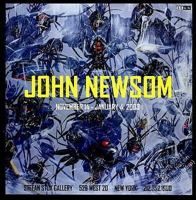 2002 Black Widow Spider group John Newsom art NYC gallery show vintage print ad