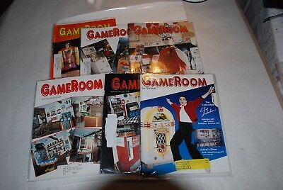 6 Gameroom Magazines January, March, May, June, July And December 1996