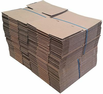 100 x Small Cardboard Boxes 180 x 160 x 85mm Packing/Carton/Box CHEAP 0.65c each