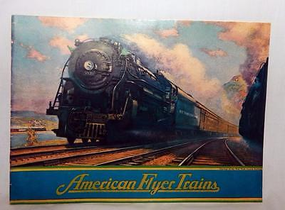 Prewar American Flyer 1931 Train Catalog Color 1970's Reprint Hiawatha Zephyr UP
