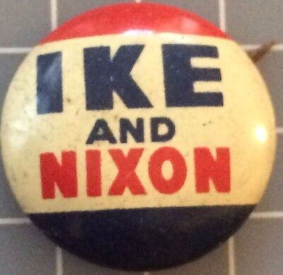 1952 IKE and NIXON 21mm pin-back Re-election Campaign Pins EISENHOWER Never Worn
