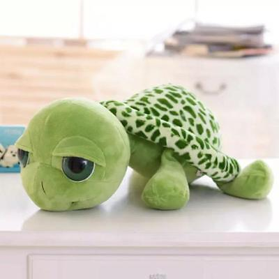 1 x Cute Big Eyes Green Tortoise Turtle Animal Baby Stuffed Plush Toy 20CM W