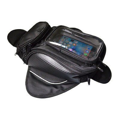 Universal Magnetic Motorcycle Motorbike Oil Fuel Tank Bag for Large Screen Phone