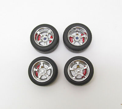 Five Spoke Low Profile Performance Wheel and Tire Set GREENLIGHT12942 1/18 SCALE