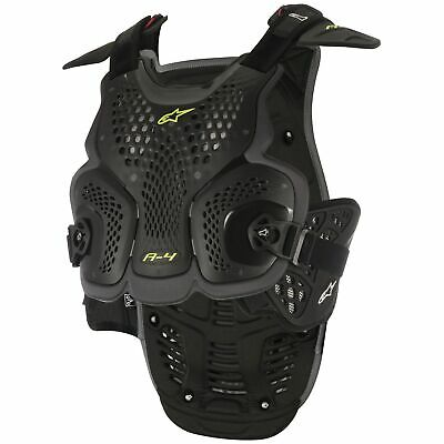 Alpinestars A-4 Motocross / MX CE Level 1 Chest Protector In Black / Anthracite