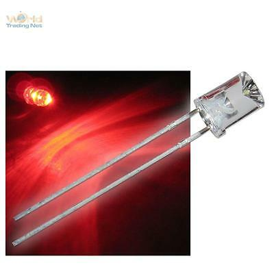 50 LEDs 3mm rouge limpide wtn-3-500r diode rouge red rouge rojo rosso rood