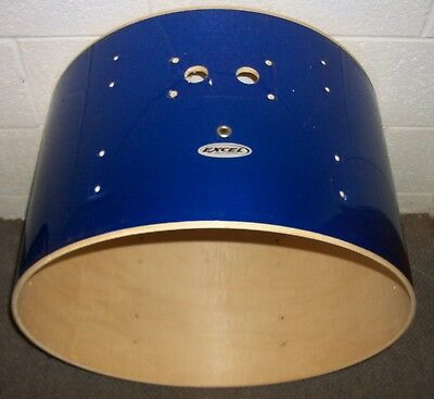 """EXCEL Percussion 22"""" Bass Drum SHELL - 14"""" Deep - Blue Covering"""