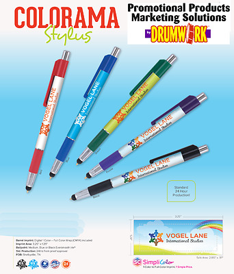 Stylus Pen Personalized Promo Marketing Advertising Handout Tradeshow Convention