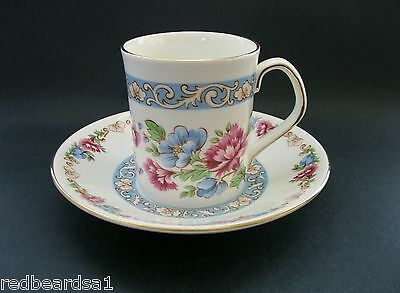 Elizabethan Summer Glory Vintage Bone China Tea Cup Saucer Taylor Kent c1960s