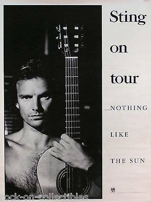 The Police Sting 1987 Nothing LIke The Sun Original Tour Promo Poster