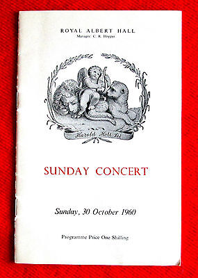 Royal Opera House Orchestra Band of the Life Guards Concert Program 1960 msc3