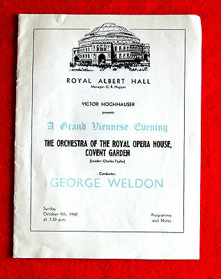 Royal Opera House Orchestra A Grand Viennese Evening Concert Program 1960 msc3