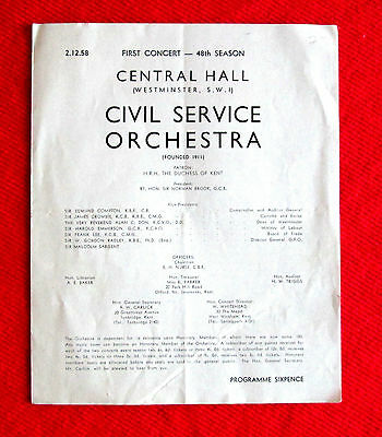 Civil Service Orchestra 1959 Concert Central Hall msc3