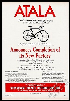 1973 Atala bike 10-speed photo vintage print ad