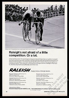 1973 Leijn Loevesijn photo Raleigh racing bike vintage print ad